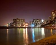 Waikiki at night Stock Photos
