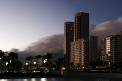 Waikiki at Night Royalty Free Stock Photography