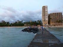 Waikiki Oahu Χαβάη ΗΠΑ στοκ φωτογραφία με δικαίωμα ελεύθερης χρήσης