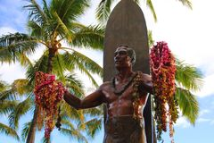 Duke Kahanamoku iconic statue Royalty Free Stock Photo