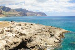waikiki ohau夏威夷北岸渔 免版税库存照片
