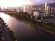 Waikiki okno widok Obrazy Stock