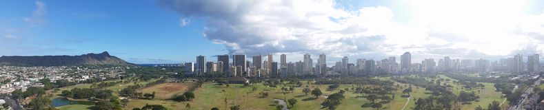 Waikiki panorama Zdjęcia Royalty Free