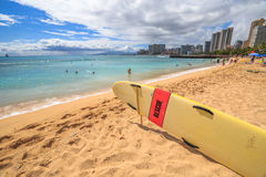Waikiki plaży linia horyzontu zdjęcia royalty free