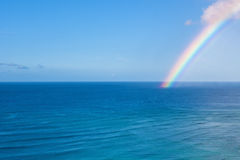 Waikiki Rainbow Background Stock Images