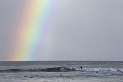 Waikiki rainbow Royalty Free Stock Images