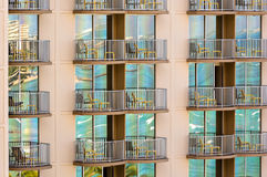Waikiki reflected in skycraper building Royalty Free Stock Image