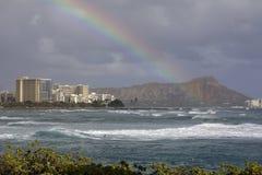 Waikiki-Regenbogen Stockfotos