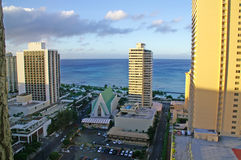 Waikiki resorts and sea Stock Photo