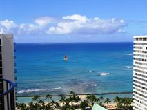 Waikiki Sailboat Royalty Free Stock Photo