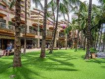 Waikiki shopping strip Stock Image