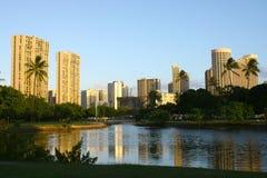 Waikiki Skyline Lizenzfreies Stockbild