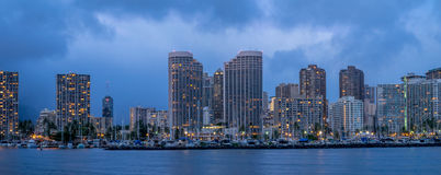 Waikiki skyline panorama Royalty Free Stock Photography