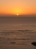 Waikiki solnedgång royaltyfria foton
