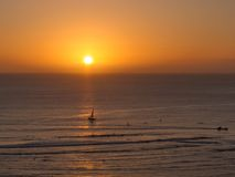 Waikiki-Sonnenuntergang Lizenzfreies Stockfoto