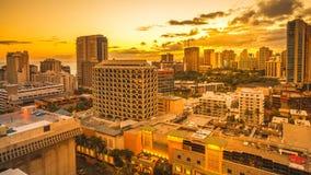 Waikiki-Stadtsonnenuntergang stock footage