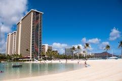 Waikiki-Strand - Hawaii lizenzfreie stockfotos