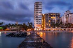 Waikiki Strand - Hawaii stockfotografie