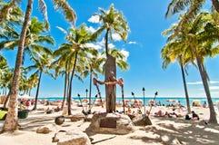 Waikiki strand i Honolulu, Hawaii Fotografering för Bildbyråer