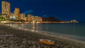 Waikiki-Strand nachts Lizenzfreies Stockbild