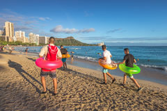 Waikiki strand Oahu Royaltyfria Bilder