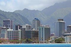 Waikiki strand, Oahu, Hawaii Royaltyfria Foton