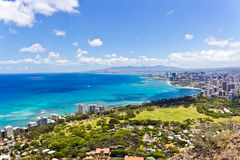 Waikiki Strip Royalty Free Stock Image