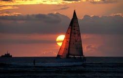 Waikiki Sunset. Royalty Free Stock Image