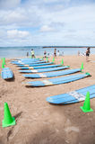 Waikiki surf lessons Stock Image
