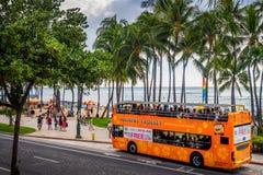 Waikiki Tourist Shuttle Bus Stock Image