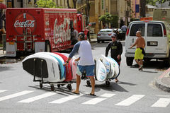 Waikiki Traffic. Event:  2015 Duke's OceanFest 25.VIII.15 Royalty Free Stock Image
