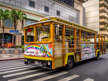 Waikiki Trolley bus Royalty Free Stock Photography