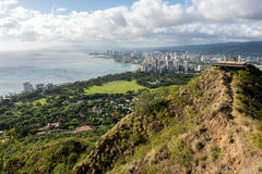 Waikiki view from Diamond Head Stock Image
