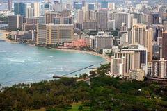 Waikiki vom Diamant-Kopf Lizenzfreies Stockfoto