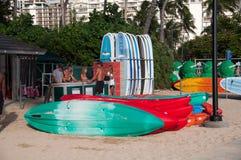 Waikiki water sport rentals Stock Image