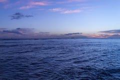 Waikiki waters at sunset Royalty Free Stock Photo
