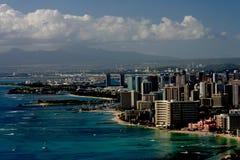 Waikiki y Honolulu Foto de archivo