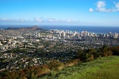 Waikiki y Honolulu foto de archivo libre de regalías