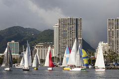 Waikiki Yacht Harbor Stock Photos