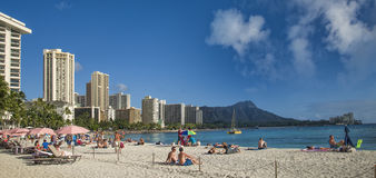 Waikki Beach, Oahu, Honolulu, Hawaii Stock Image