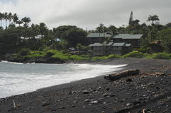Waikoloa Black Sand Beach, Hana Hawaii Stock Photo