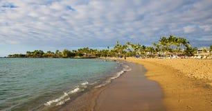 Waikoloa strand Royaltyfria Foton
