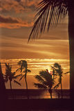 Waikoloa Sunset-3 Photos libres de droits