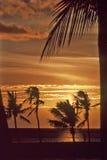 Waikoloa zonsondergang-3 Royalty-vrije Stock Foto's