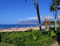 Wailea Beach, Maui, Hawaii. Wailea Beach along the walk near the Grand Wailea Hotel, Maui, Hawaii Royalty Free Stock Images