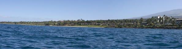 Wailea Ocean Shore Panorama, Maui, HI Royalty Free Stock Image