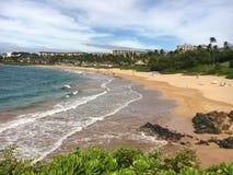 Wailea strand Maui Arkivfoto