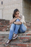 Wailful jonge vrouw stock foto