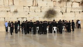 The Wailing Place of the Jews. Wailing Wall. Western Wall in Jerusalem, Israel Stock Photos