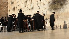 The Wailing Place of the Jews. Wailing Wall. Western Wall in Jerusalem, Israel stock video